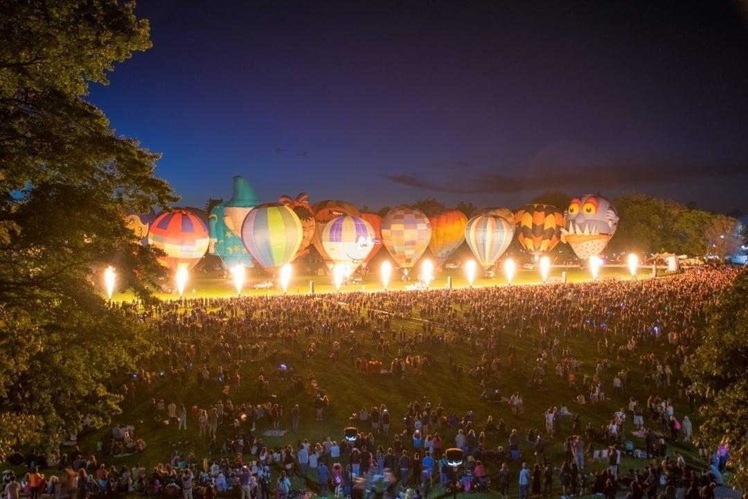 the night show at the hamilton balloons