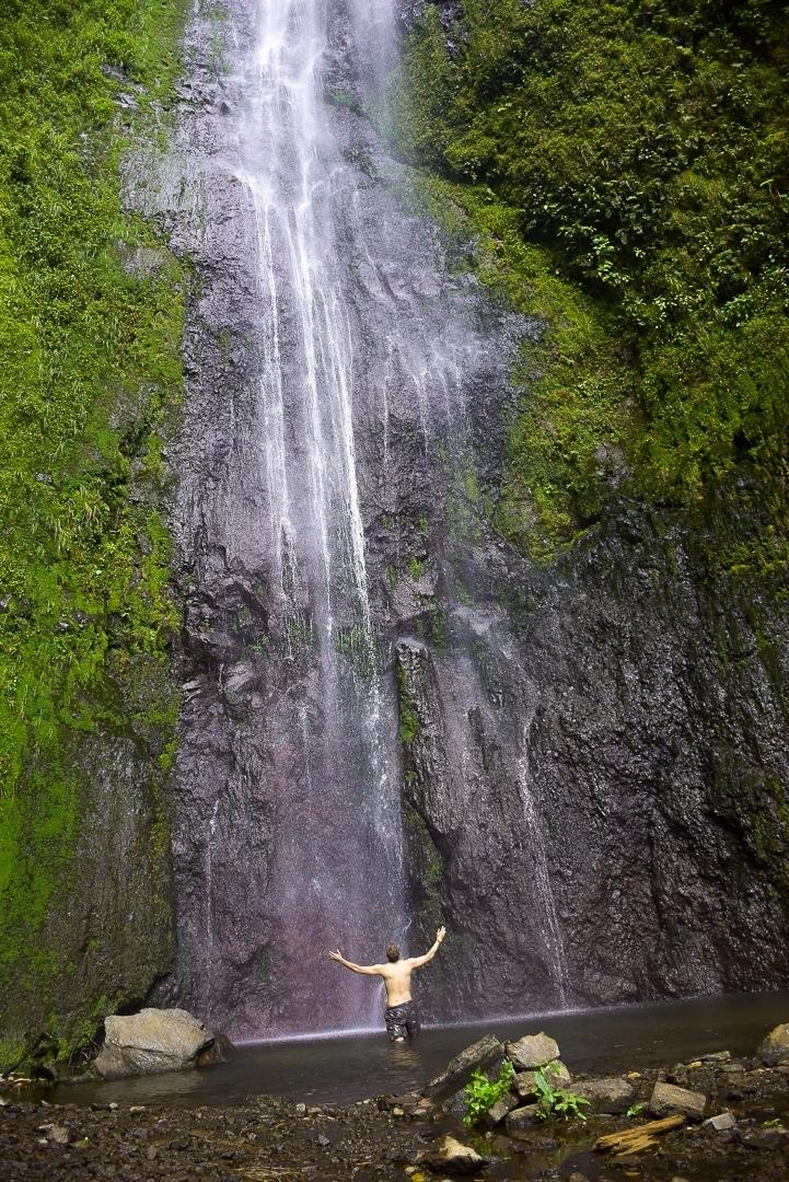 the waterfall on ometepe island