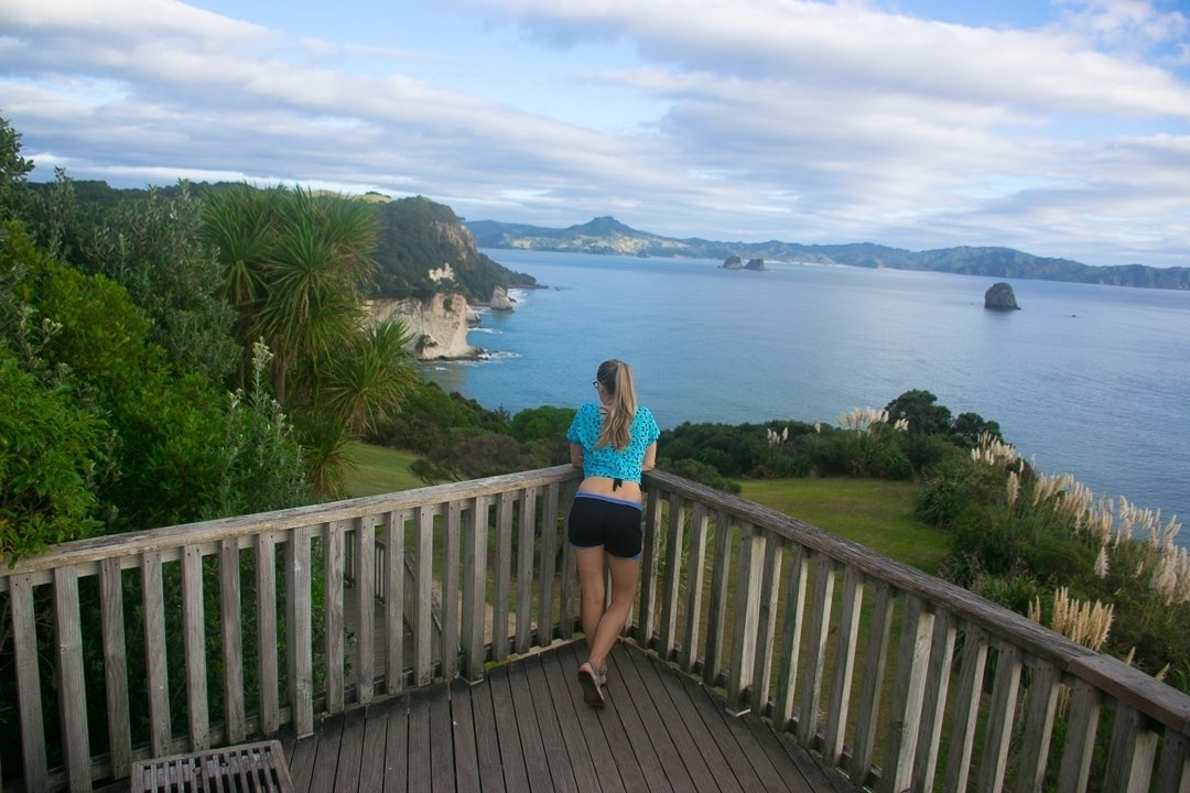 the start of the walk to Cathedral Cove
