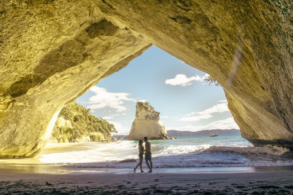 Cathedral Cove near Hot water beach on the Coromandel Peninsular