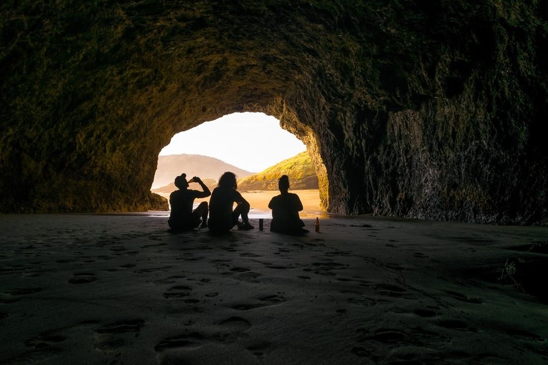 Bethells beach cave