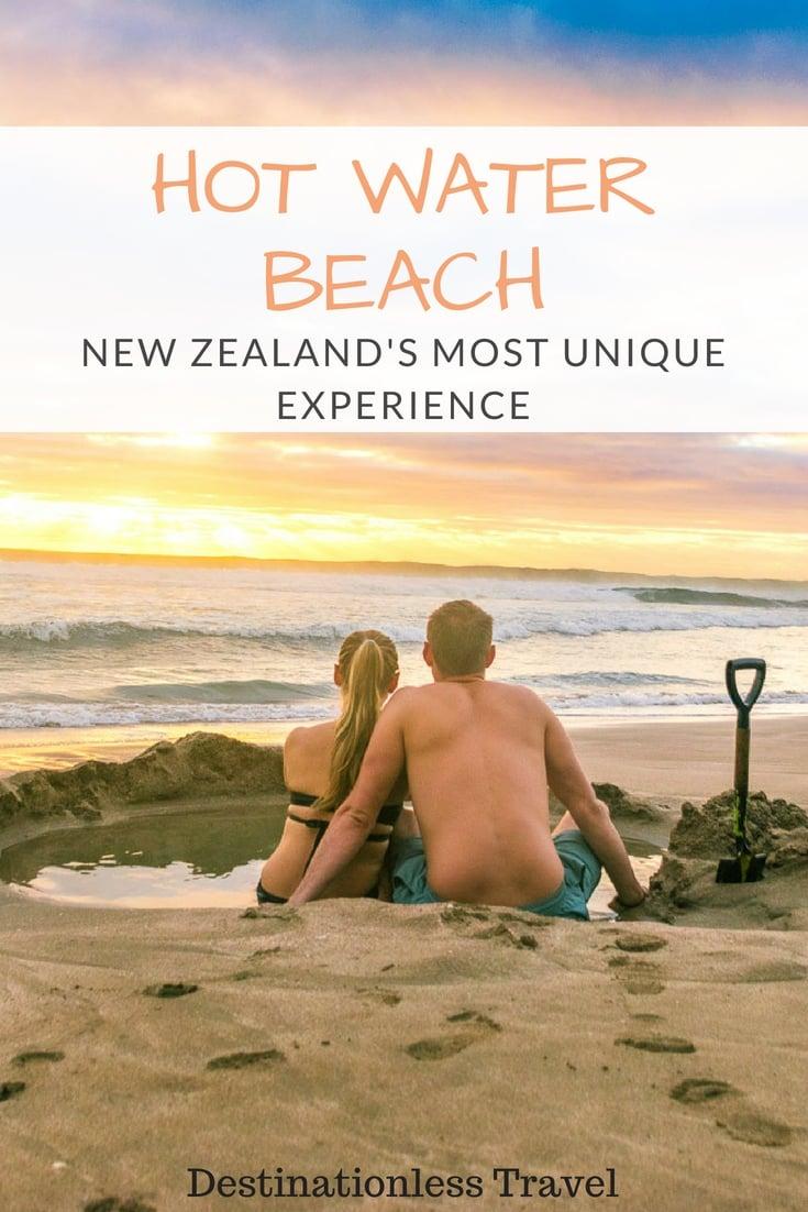 Hot Water Beach Pin