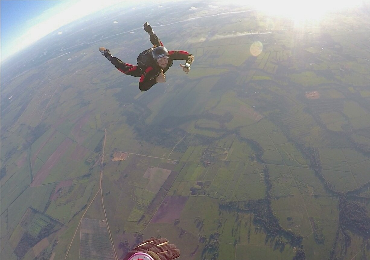 Skydiving in Bolivia