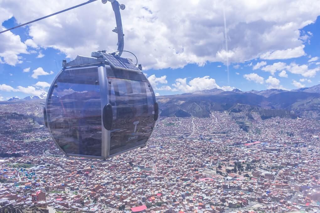 gondola in La Paz Bolivia