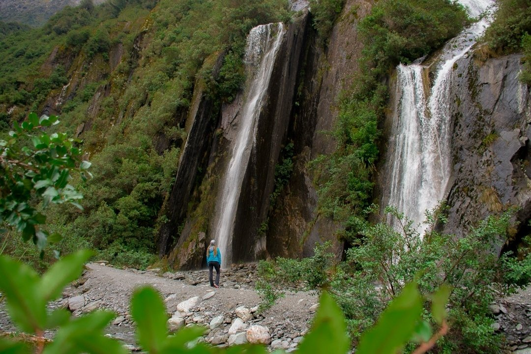 Franz Josef Glacier waterfalls