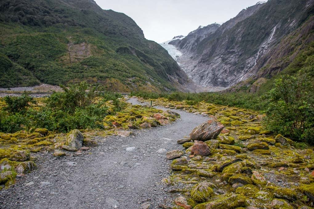The View of the Franz Josef Glacier from the Franz Josef Glacier walk
