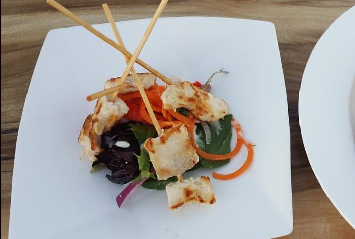 crocodile meat skewers from a restaurant on stokes hill warf in darwin