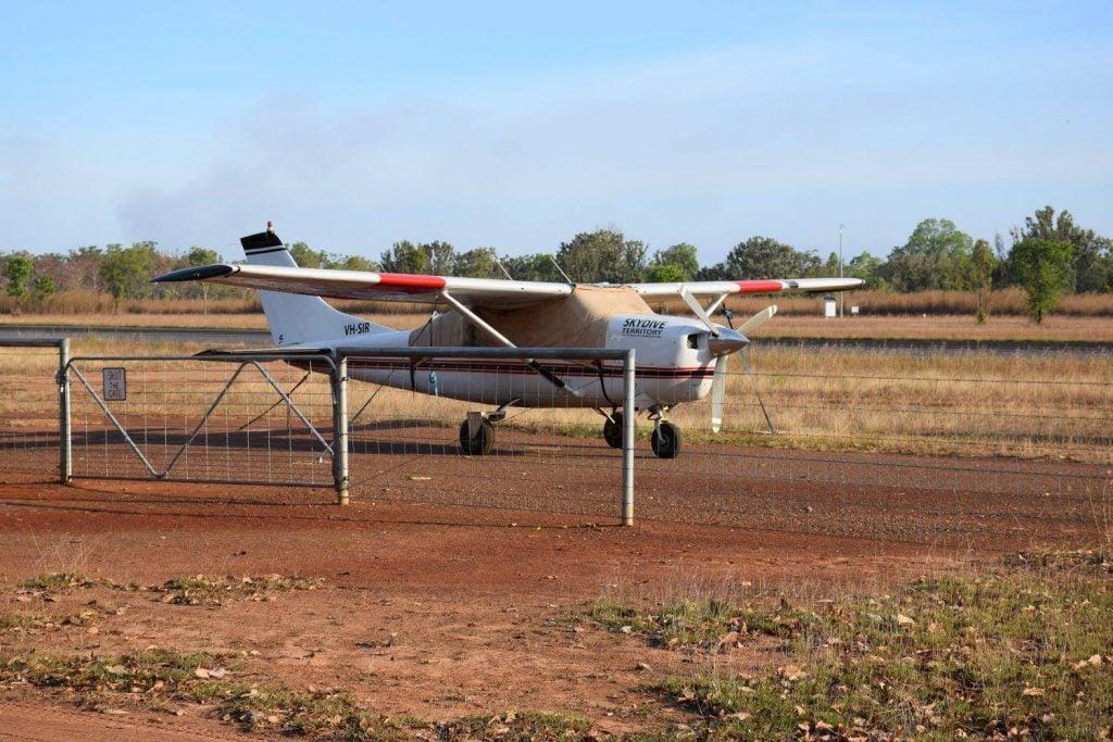 small flight plane for a scenic flight in darwin