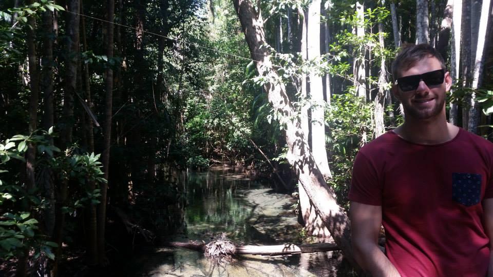 daniel at the territory wildlife park
