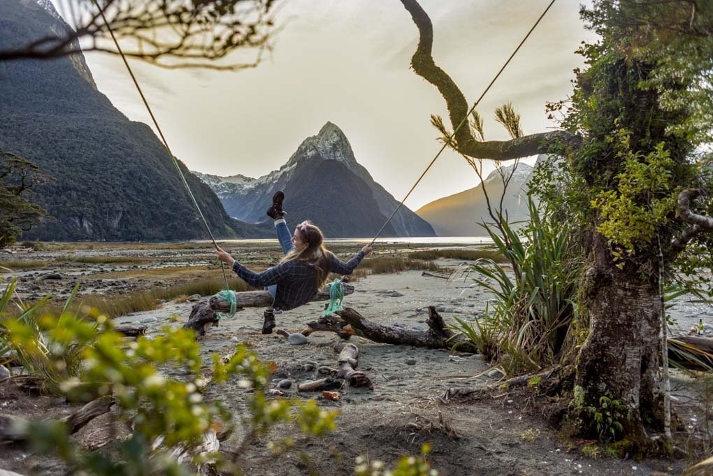 The Milford Sound Swing, New Zealand