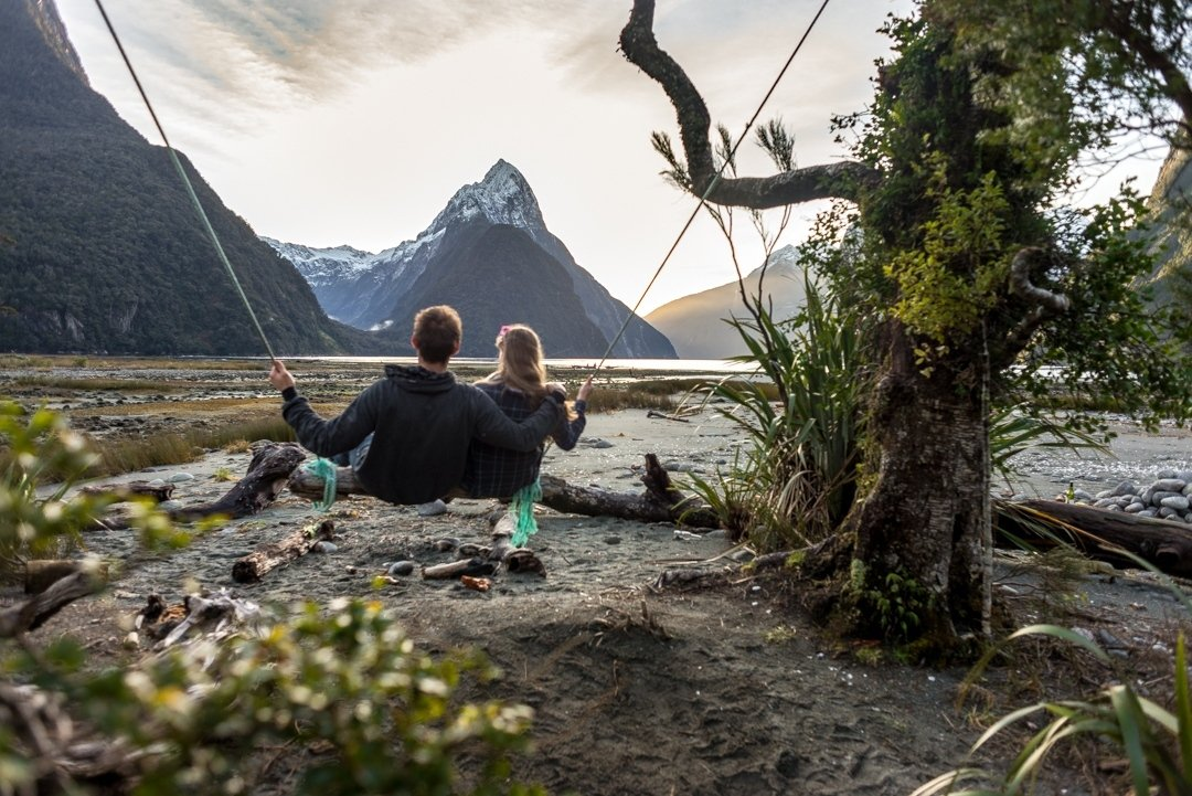 The Best Photo Spot in Milford Sound: The Milford Sound Swing