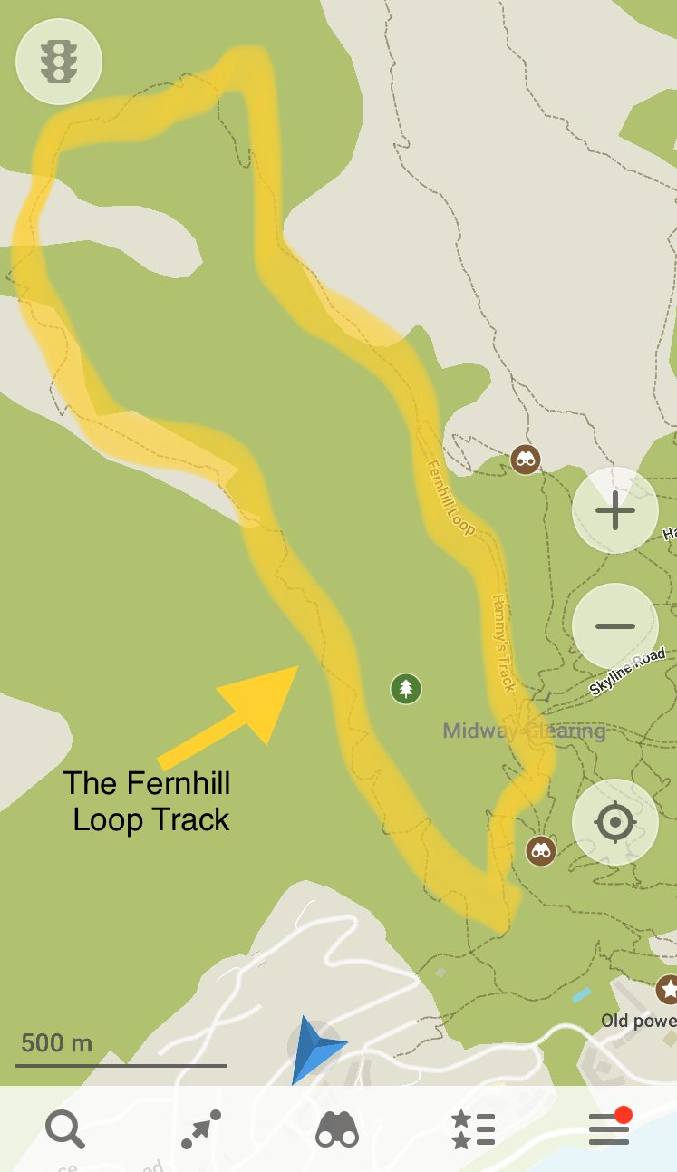 a map of the Fernhill Loop