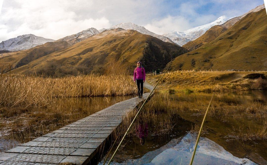 Moke Lake circut in Queenstown, New Zealand