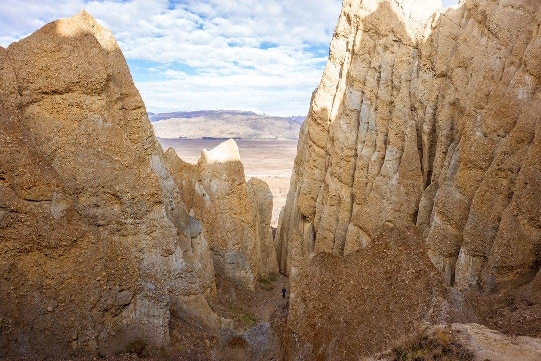 the omarama clay cliffs near lindis pass New Zealand