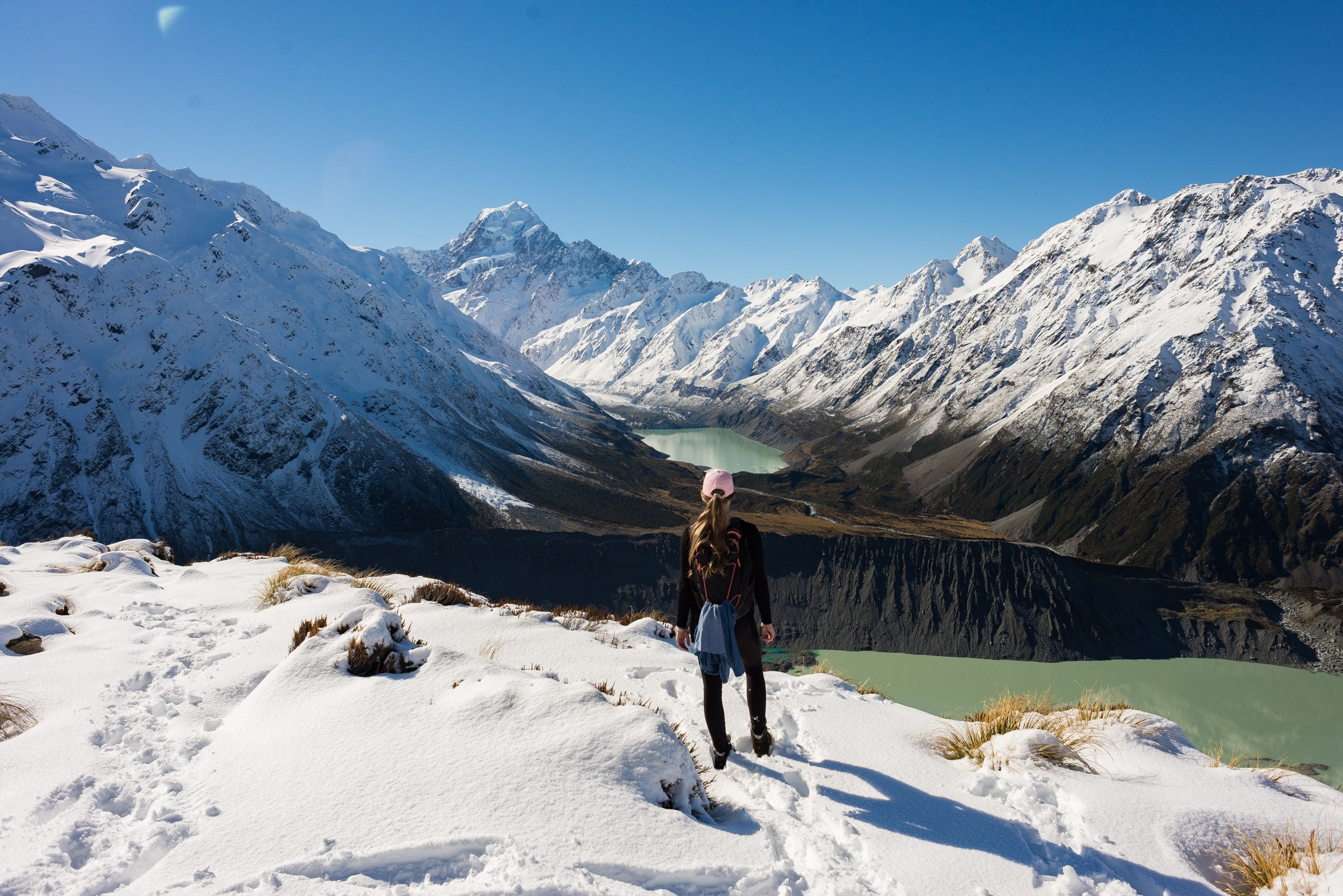 This is the view from the Sealy Tarns track in Mount cook National Park, New Zealand