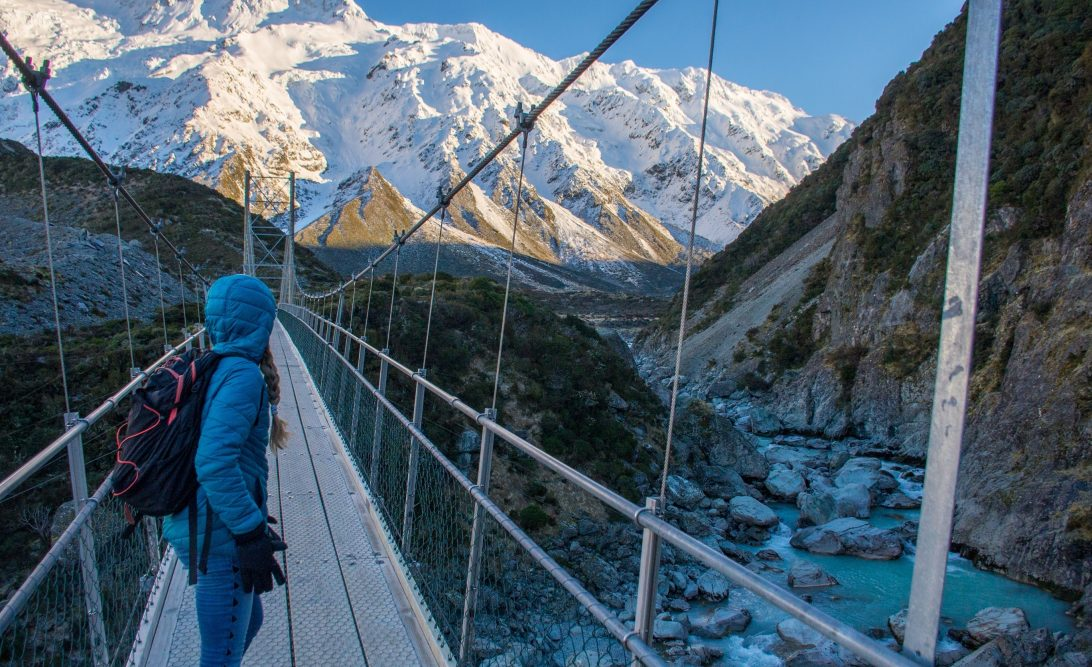 the hooker valley track suspension bridge