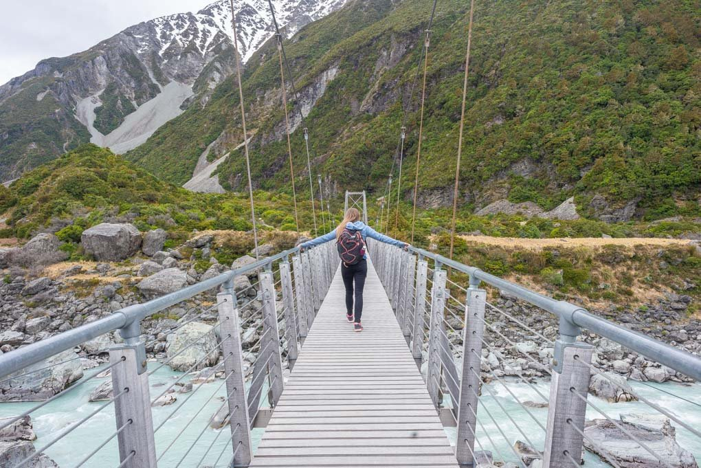 Another suspension bridge on the hooker Valley Track