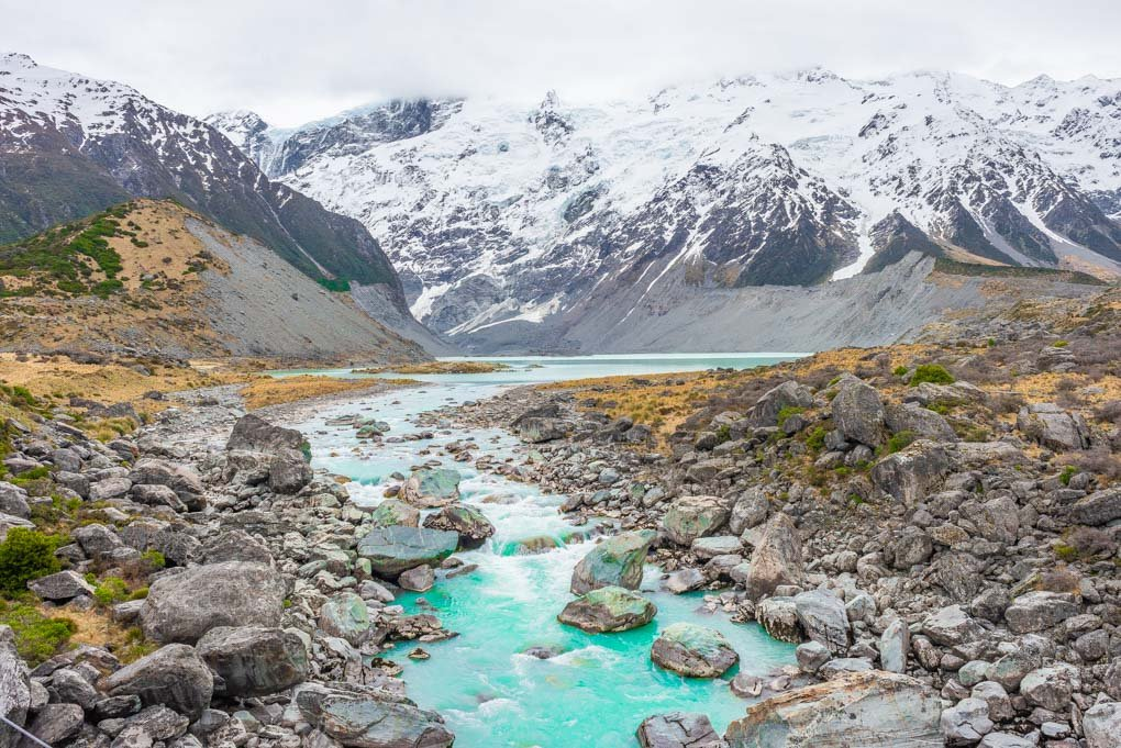 The Mueller Lake, Mount Cook National Park