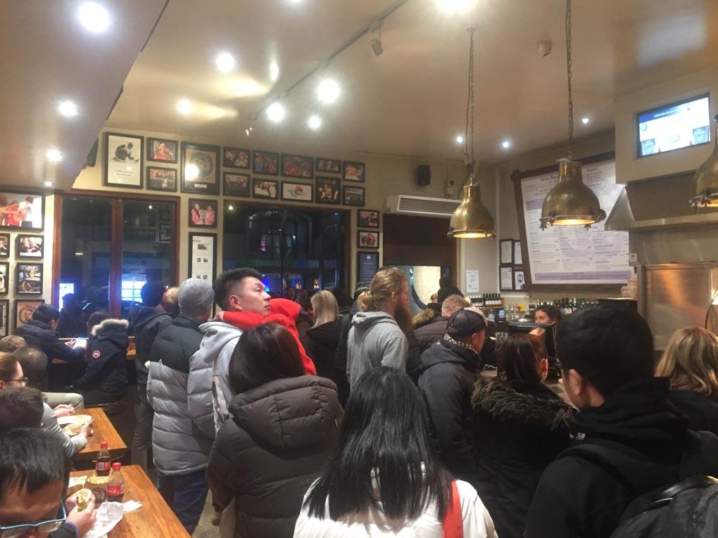 The craziness inside Fergburger