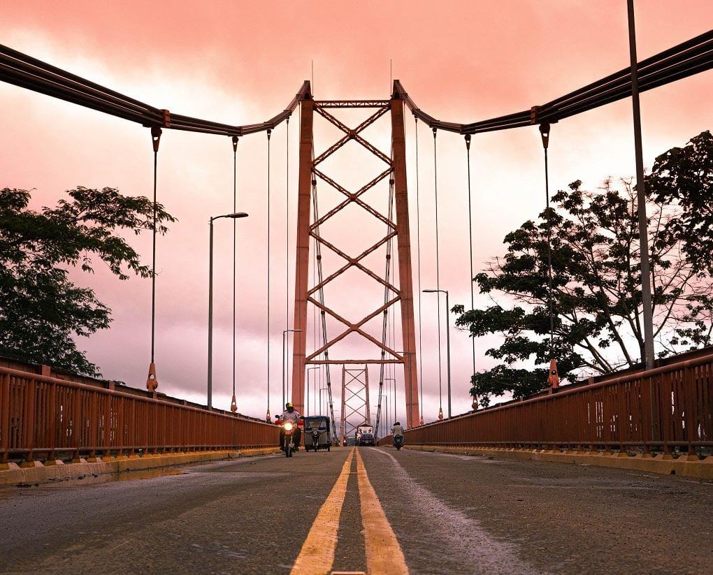 Peru's longest bridge in Puerto Maldonado