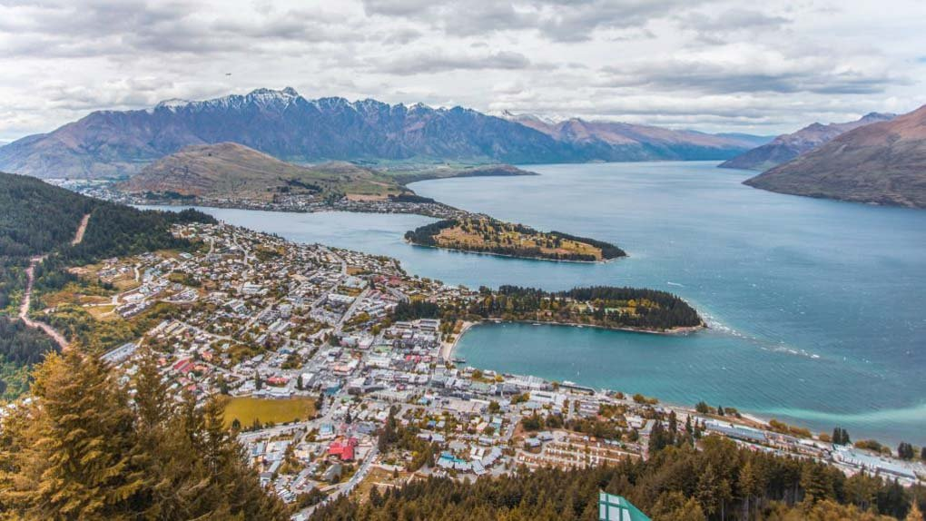 The view of Queenstown, New Zealand from Bob's Peak