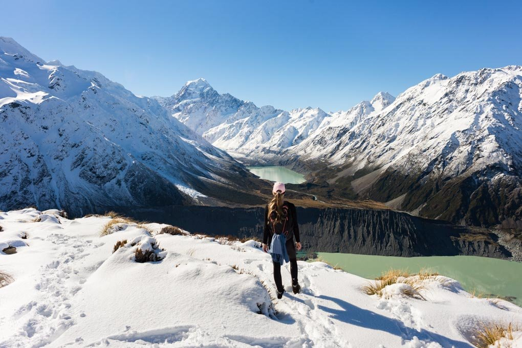 Sealy tarns Track in Mount Cook National Park