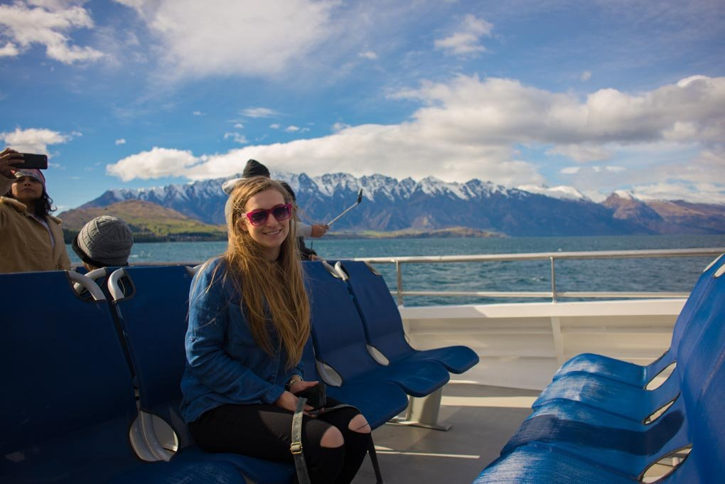 A photo of Bailey on the Spirit of Queenstown scenic cruise to the Mt Nicholas Station