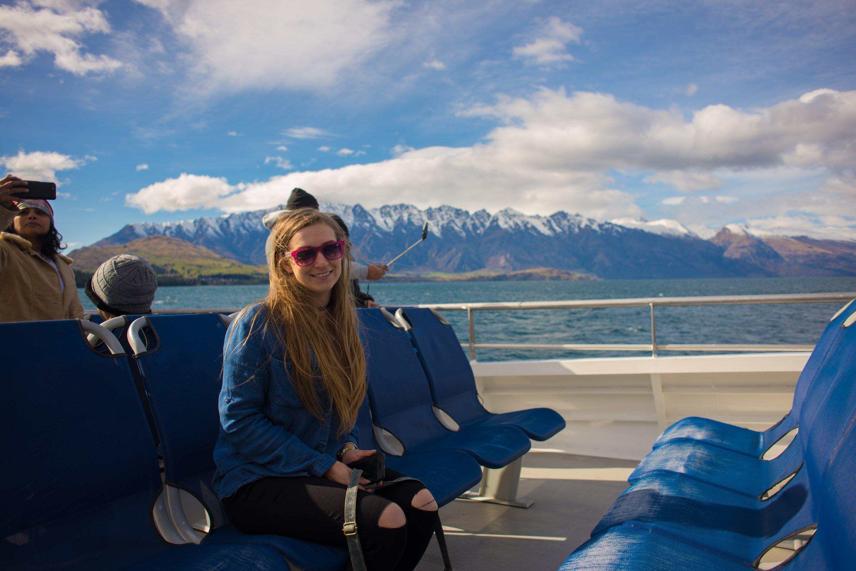 Enjoying the spirit of queenstown scenic cruise
