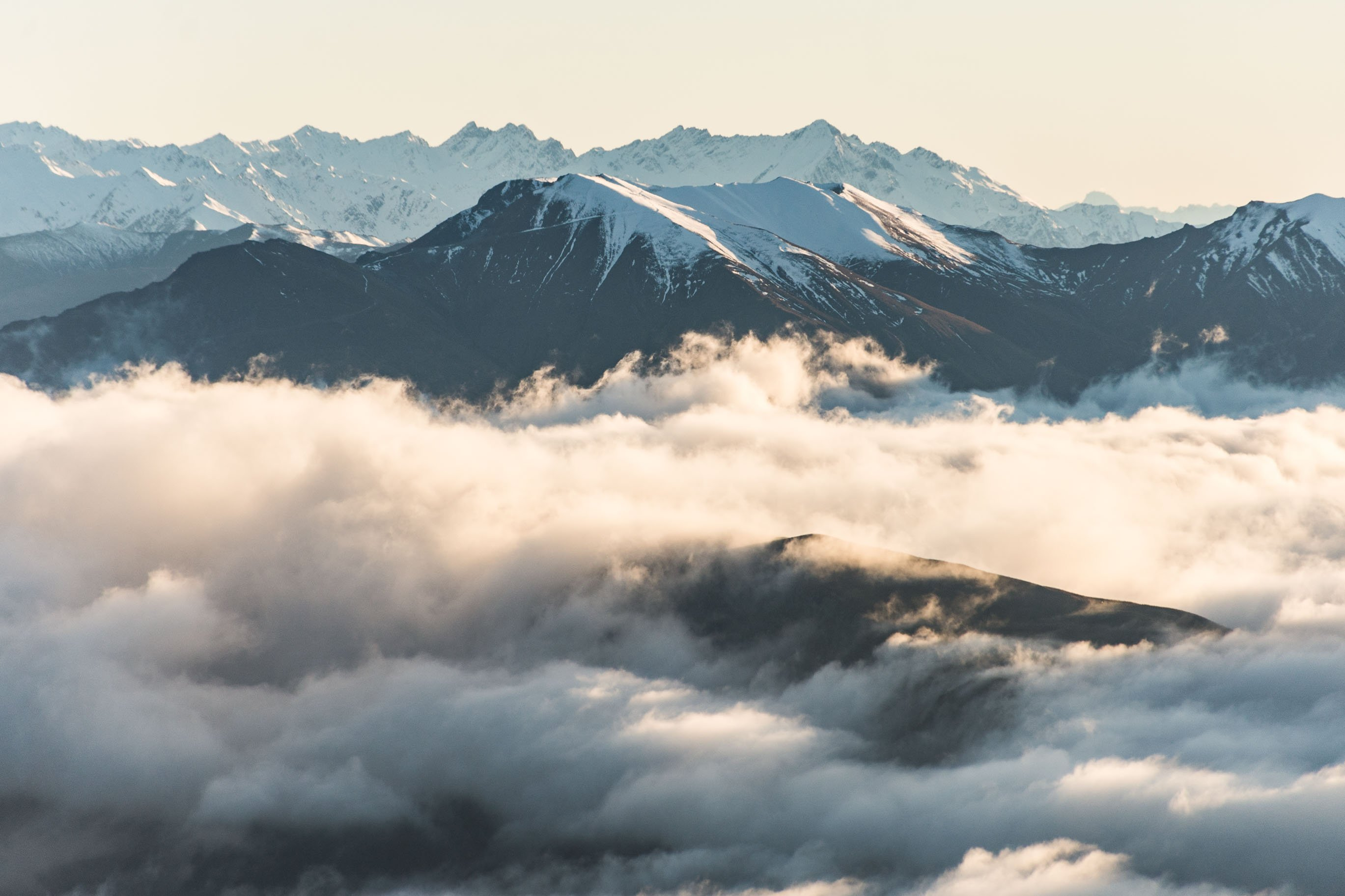 roys peak track takes you above the clouds