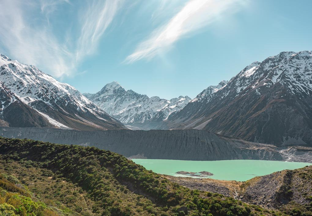 Views of Mount cook from the Mueller Hut Trail and Sealy tarns Track