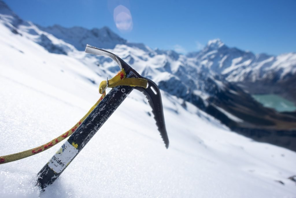 an ice pick for ice climbing