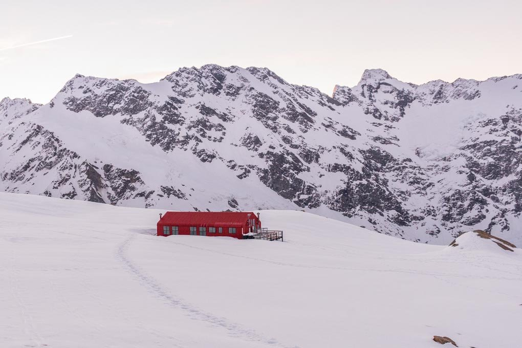 The Mueller Hut in Mount cook National Park