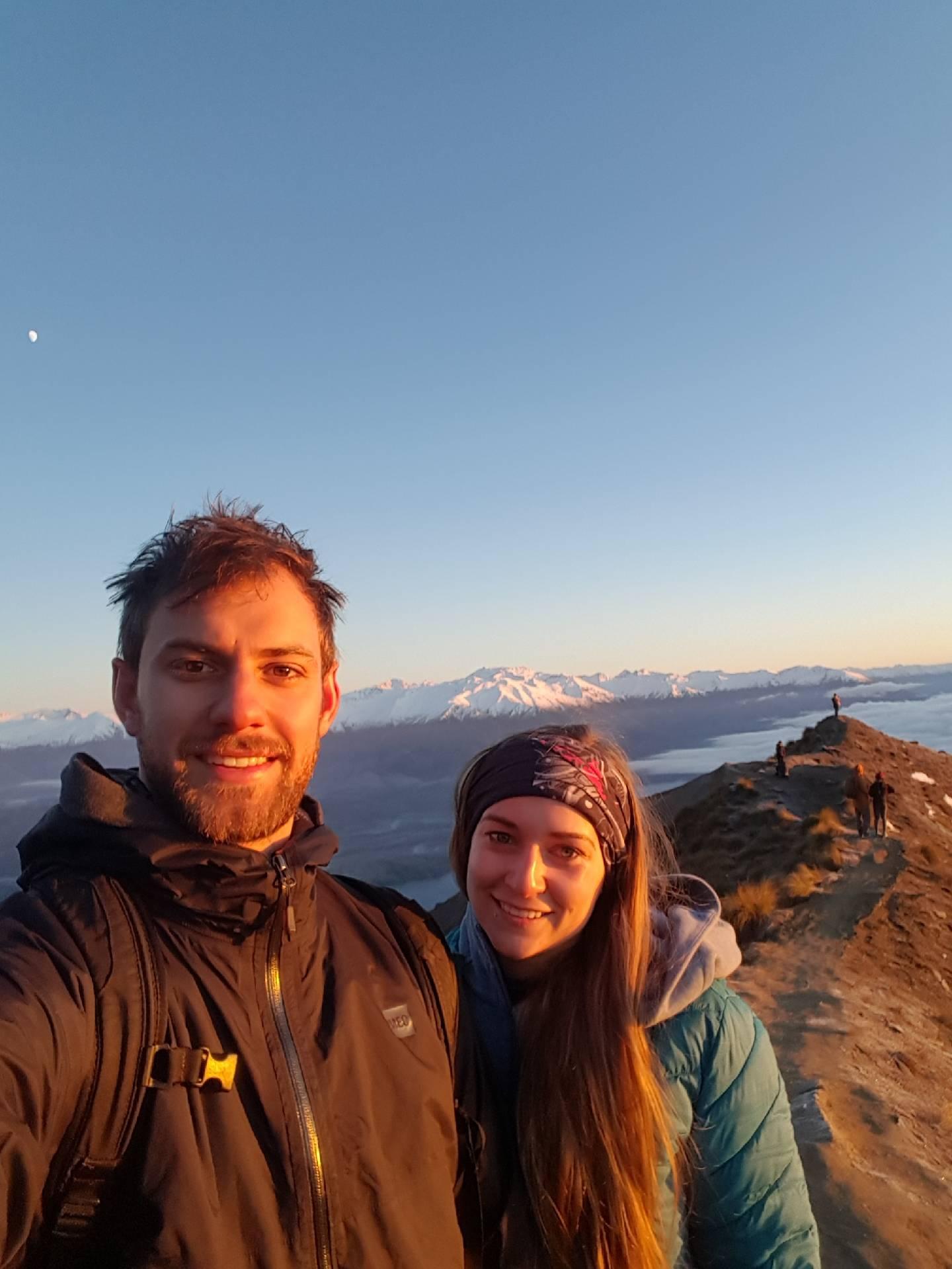 selfie at roys peak at sunrise