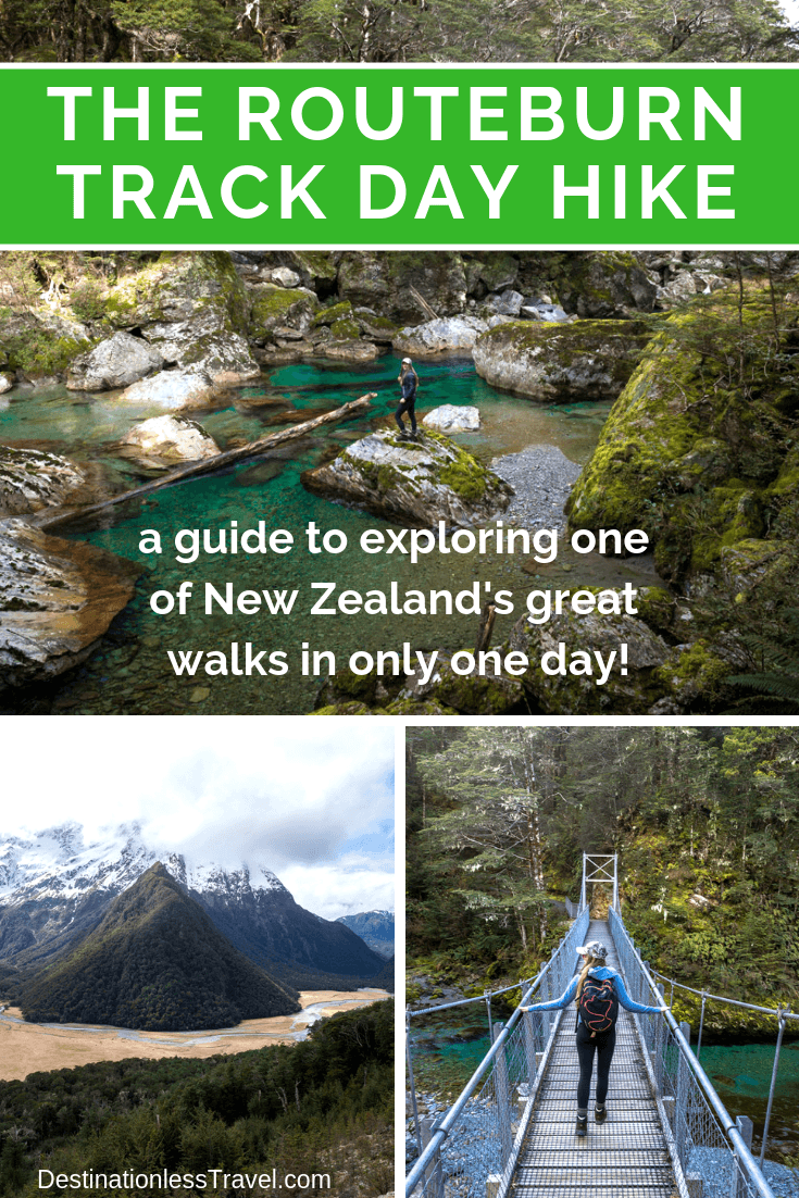 the routeburn track day hike pinterest