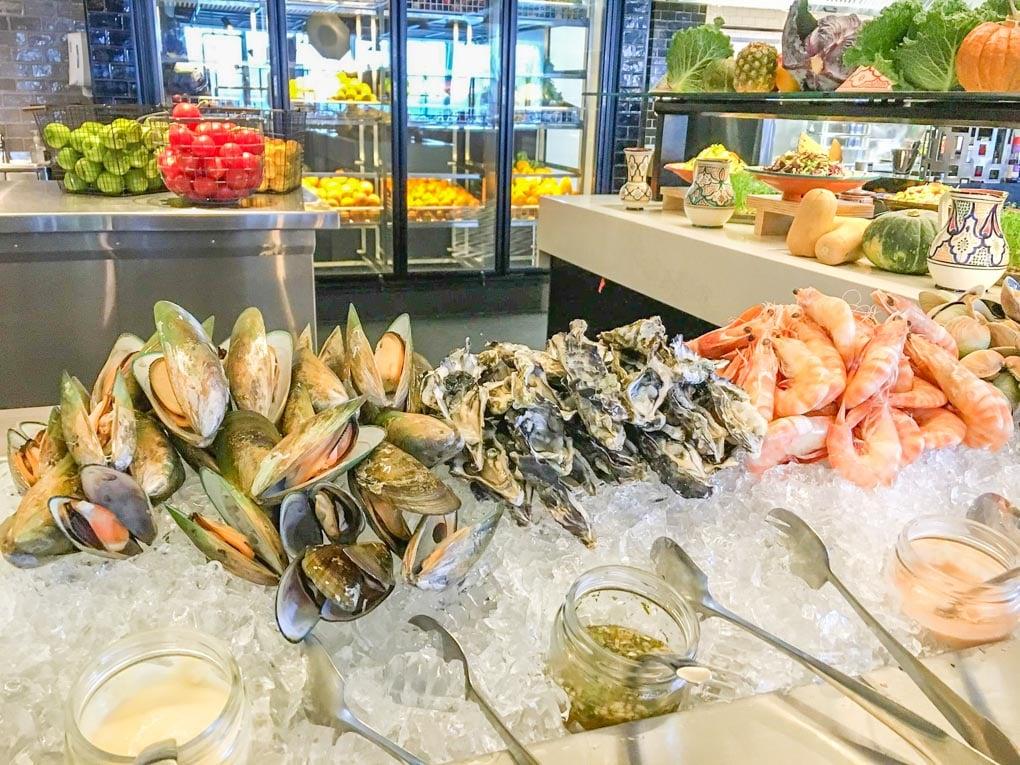 The seafood selection at Bazaar Restaurant in Queenstown