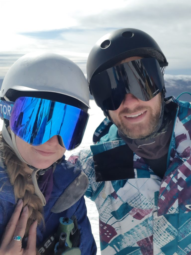 selfie at cardrona ski resort near wanaka