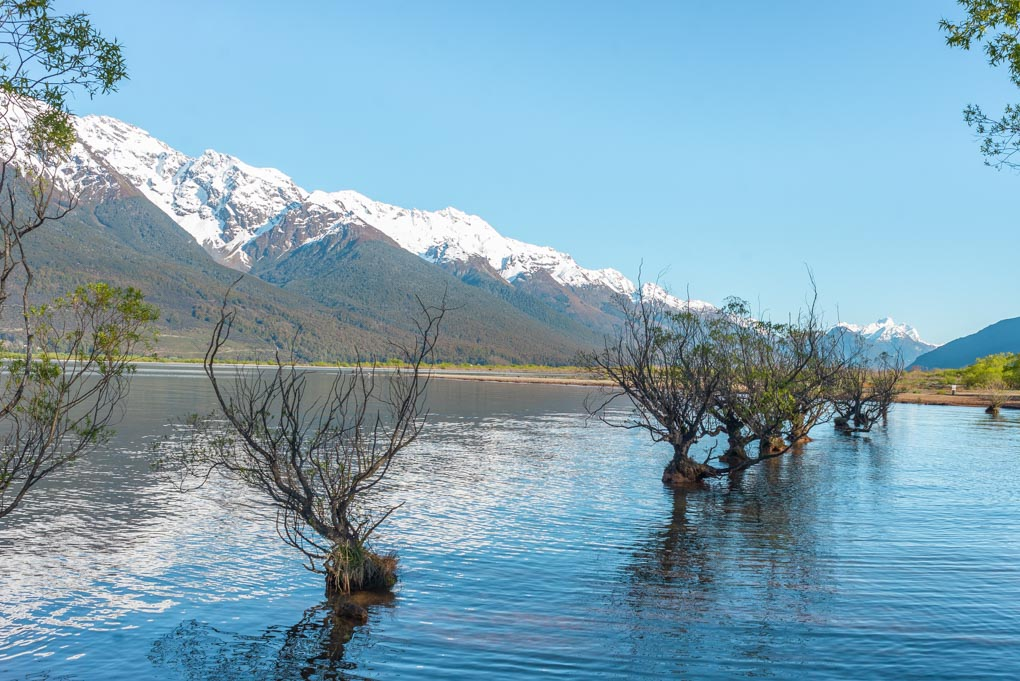 The waterfront in Glenorchy, New Zealand
