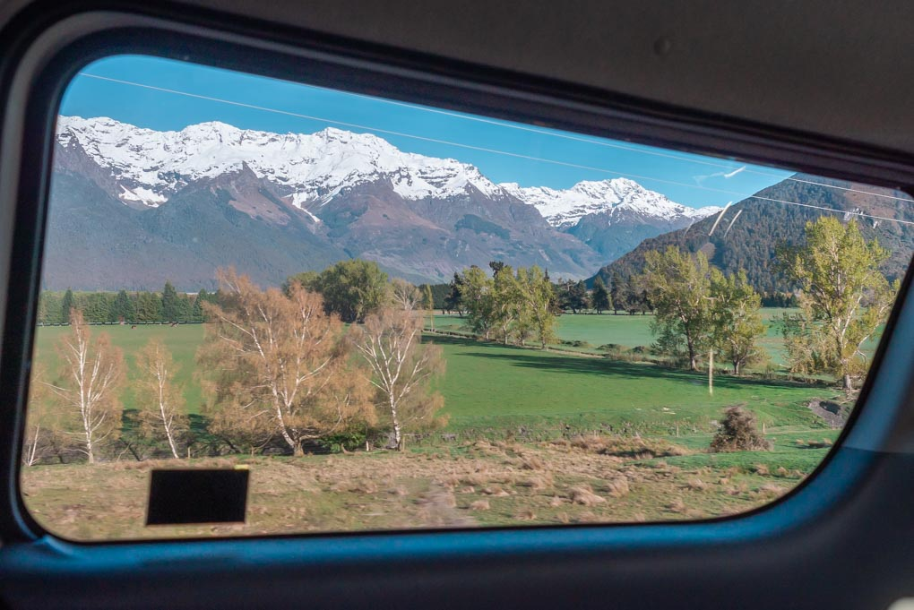 Breathetaking views from our van on our Lord of the Rings tour