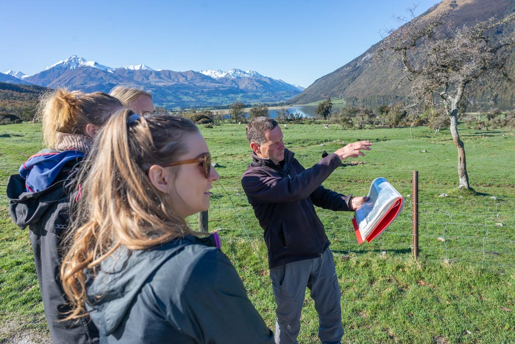 Our guide explaining about the different filming locations of the LOTR's in Glenorchy