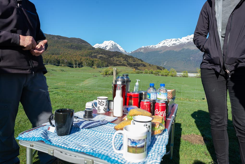 Our picnic on our Lord of the Rings tour in Queenstown