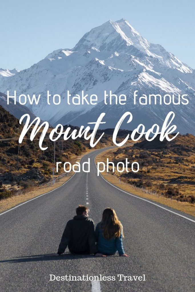 Mount cook road photo pin