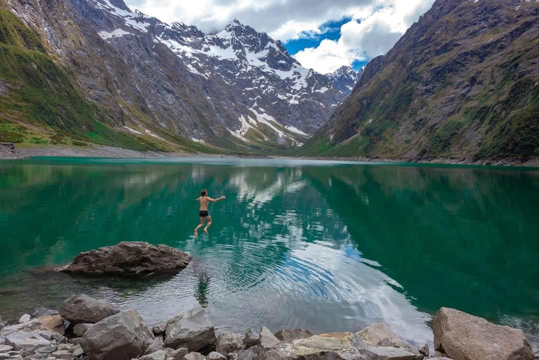 swimming in lake marian