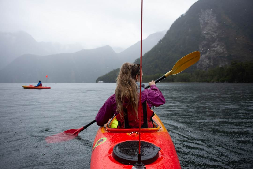 Kayaking tours in Milford Sound