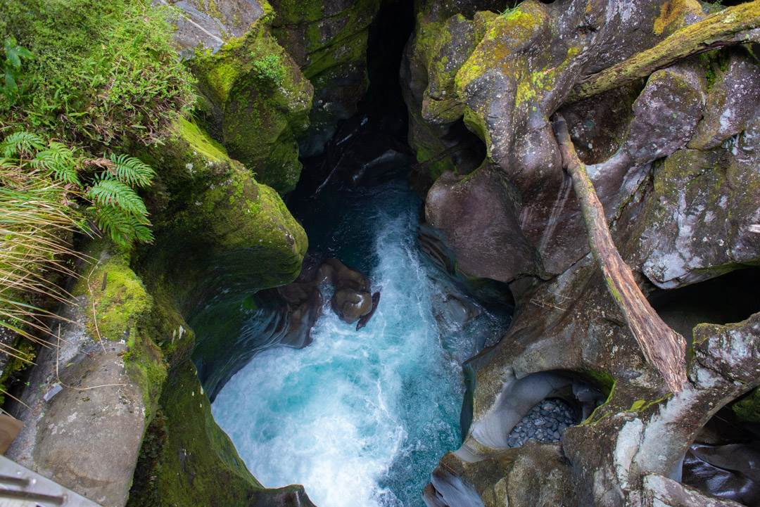 the chasm on the way to milford sound from queenstown