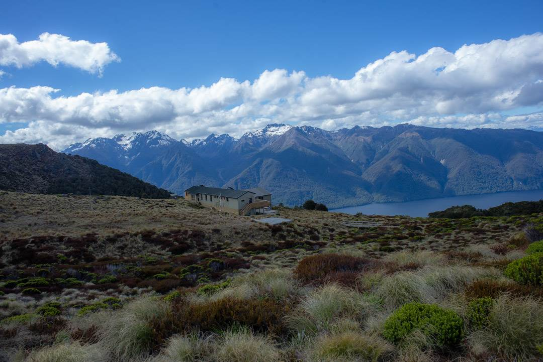 view of the luxmore hut