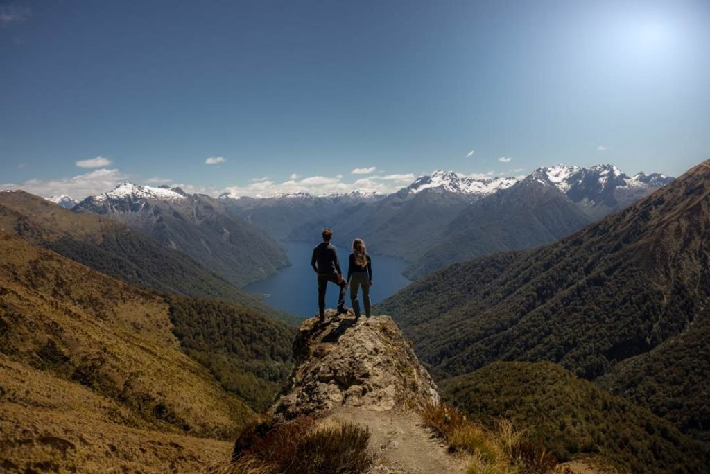 views on the Kepler Track - one of the most beautiful hikes on the south island of new zealand
