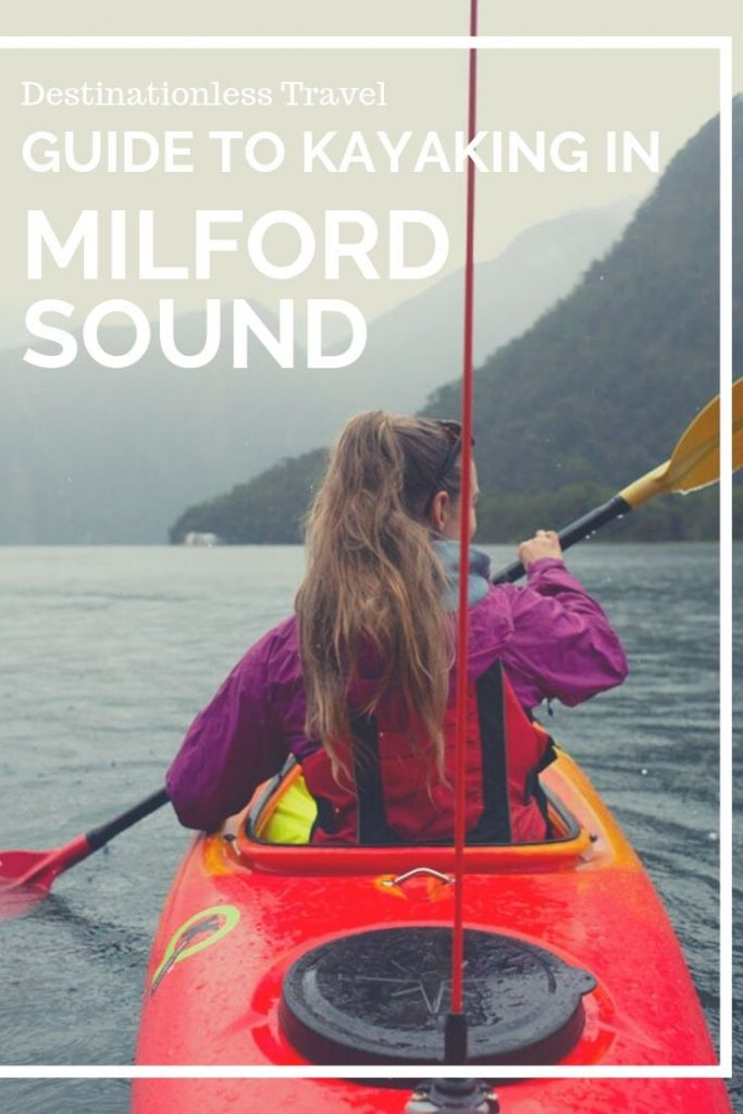 Kayaking in Milford Sound Pin