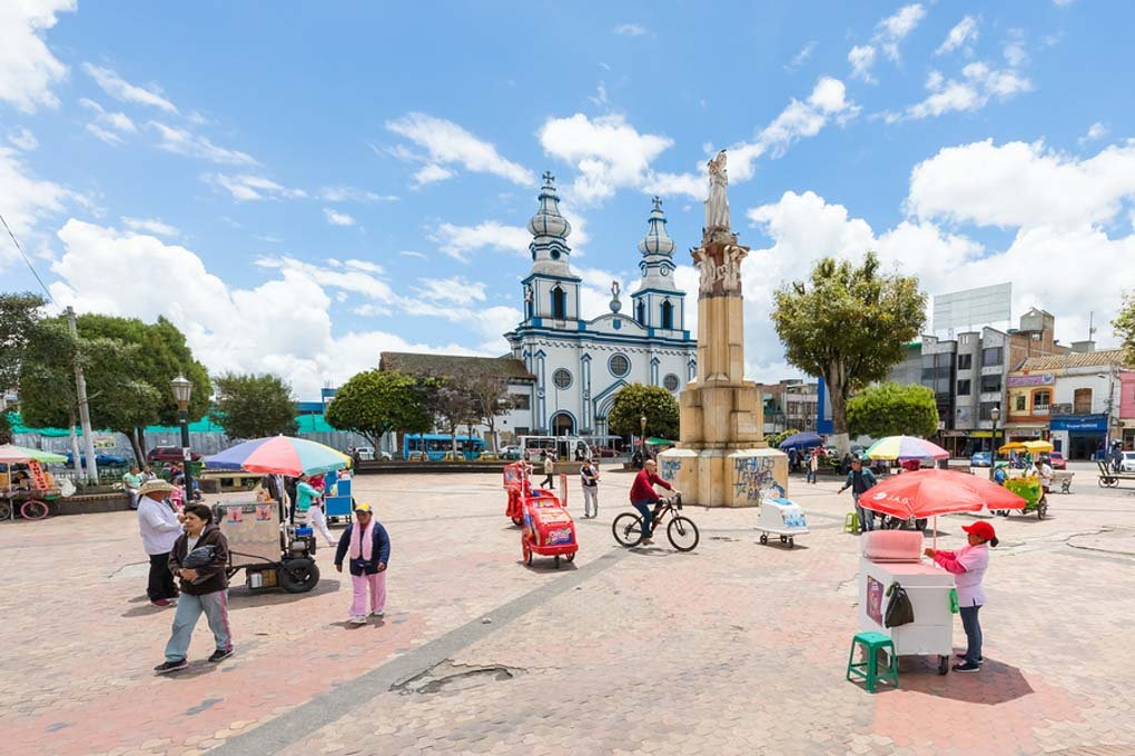 Main Square Of Ipiales Colombia