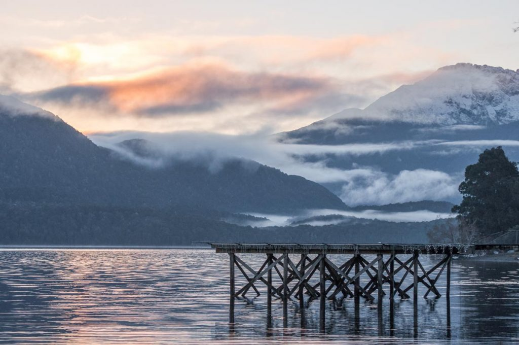 Te jetty and views of the lake in Te Anau