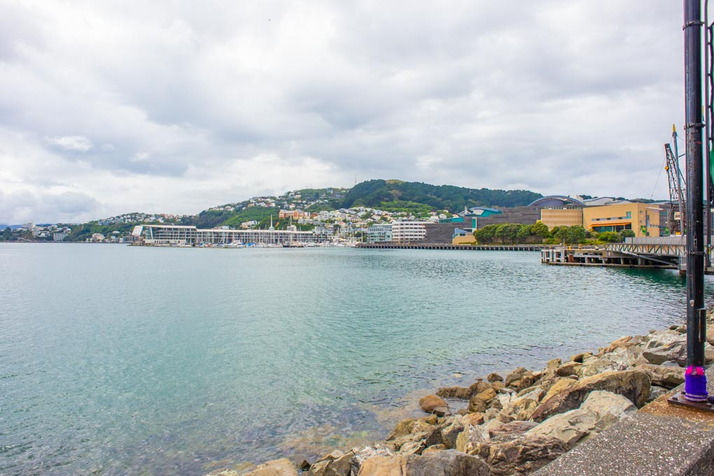view of the ocean from the Wellington Warf